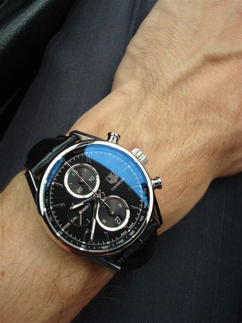 Tagheuer Formula1 Monaco Black Combi Brown Leather tag heuer chronograph black black leather soletopia