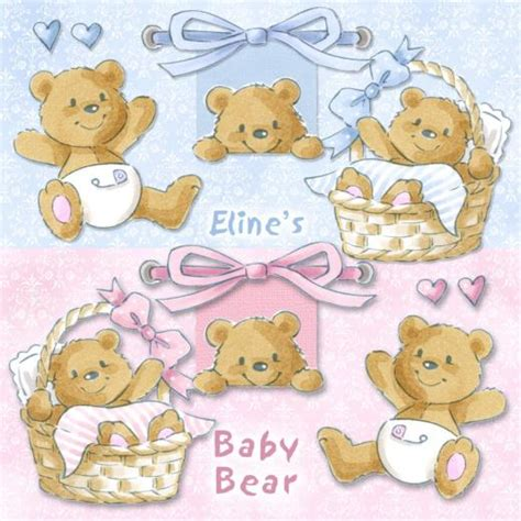Set Overall Baby Bears eline s digital clipart set baby buddly crafts