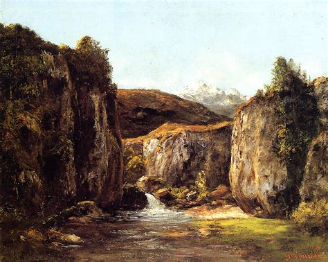 Landscape Source Gustave Courbet