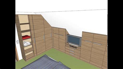 schlafzimmer einbauschrank dachschraege tv youtube