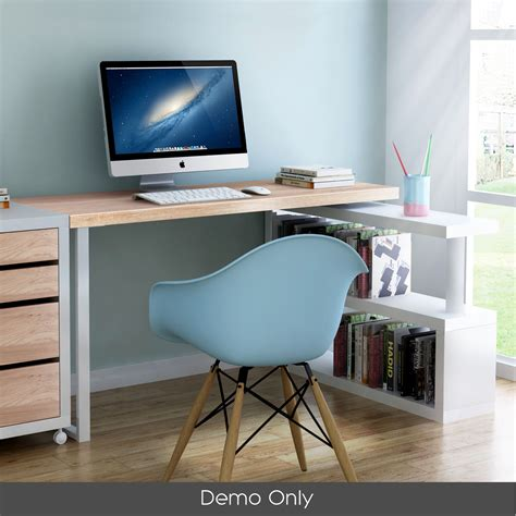office computer desk corner table w bookshelf veneer home