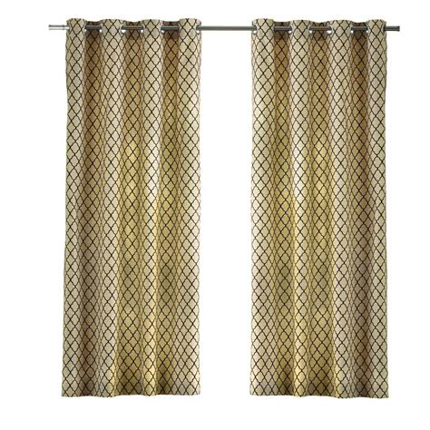 ogee curtains home decorators collection cream ogee grommet curtain