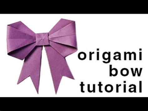 How To Fold A Paper Bow - origami how to fold a paper bow ribbon paper kawaii
