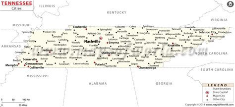 map of tennessee with cities buy tennessee cities map