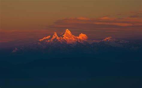 Chain For Samsung Note 2note 3note 4note 5 hd background himalaya mountain range orange sunset snow
