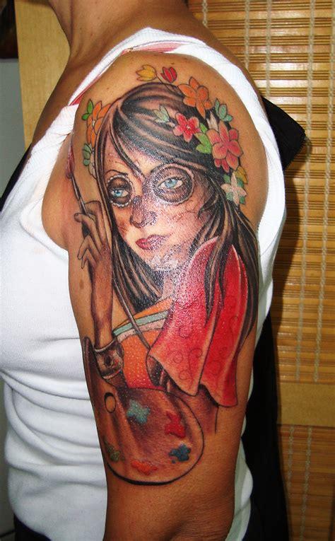 catrina tatuagem com tatuagens tattoo