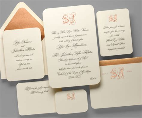 Classic Wedding Stationery by Friday Feature A Quintessental Classic Wedding Invitation
