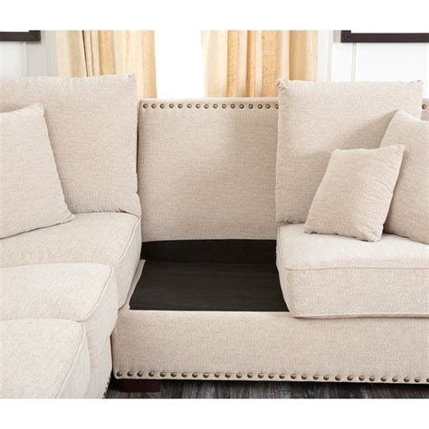 nailhead sectional sofa nailhead sectional sofa furniture of america cm6156 3 pc