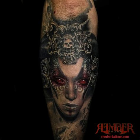 dark age tattoo viric portrait by rember age studio tattoos