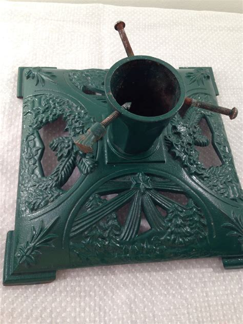 vintage cast iron christmas tree stand by christmasgoose