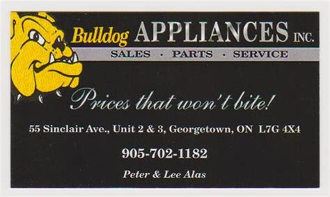 411 Directory Assistance Lookup Bulldog Appliances 9057021182 Georgetown On Bulldog Ge
