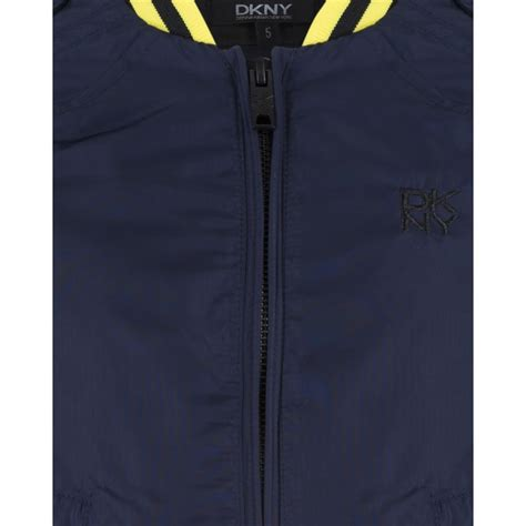 Jacket Bomber Anfild Yellow Gj dkny boys blue bomber jacket with yellow stripes and embroidered logo dkny from chocolate