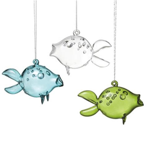 seaside inspired beach decor fish christmas ornaments