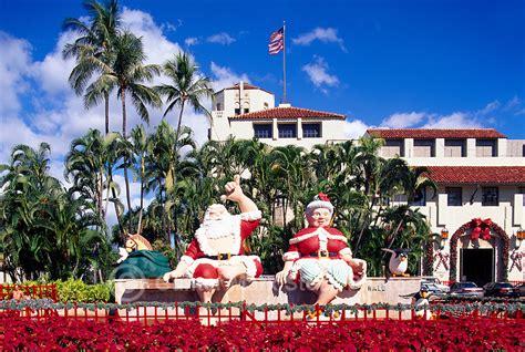 hawaiian christmas shaka santa claus honolulu hawaii pictures images gunter marx stock