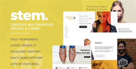 drupal themes zip stem responsive multipurpose drupal 8 theme download zip