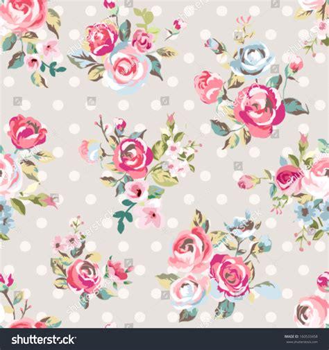 cute vintage pattern background seamless cute vintage rose flower pattern stock vector
