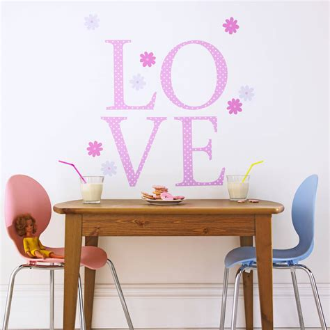 Kidscapes Wall Stickers giant pink polka wall letters by kidscapes