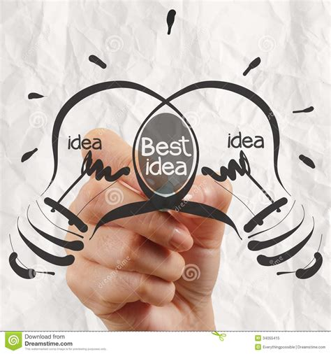 Best For by Drawing Light Bulb Best Idea With Crumpled Paper