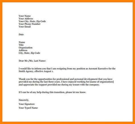 How To Type Resign Letter by 9 How To Type A Letter Of Resignation Applicationleter
