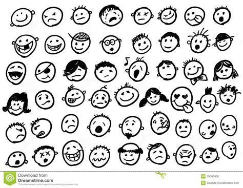 Emoticon Doodles Stock Photo Image 19041800