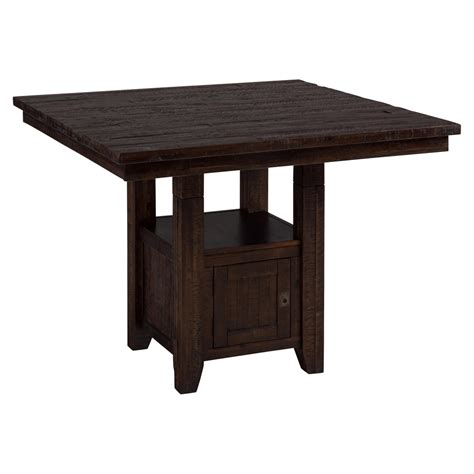 kona grove fixed pub table storage base chocolate dcg stores