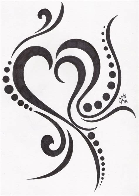 tribal heart tattoo designs images designs