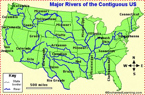 us map of rivers lakes and mountains map of us lakes rivers mountains usa river map major us