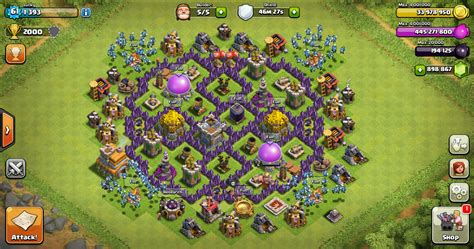 layout coc th 7 terkuat farming base clash of clans th 7 design base clash of