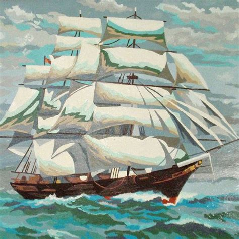 sailboat numbers vintage paint by numbers sailboat seascape number