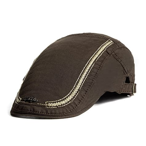 Embroidery Beret high quality mens cotton embroidery sunshade berets caps