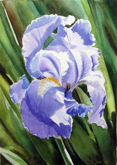 flowers 1 on irises purple iris and watercolor artists