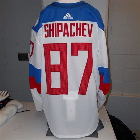 Jersey Prancis Away Cup 2016 vadim shipachev used away 2016 world cup of hockey team russia jersey nhl auctions