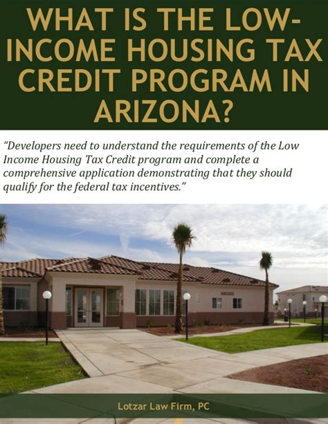 low income housing tax credit wha is the low income housing tax credit program in arizona