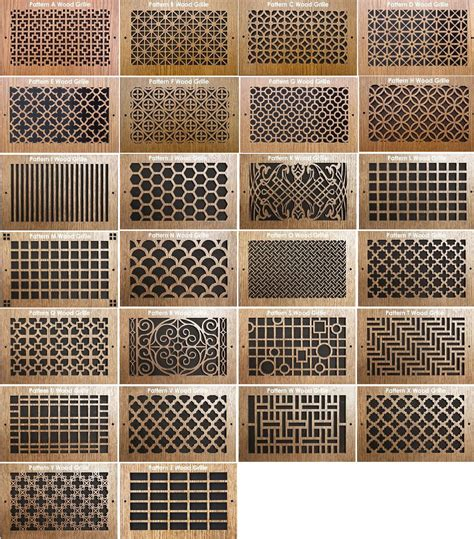 pattern cut wood grilles safety door grill design laser cutting joy studio design