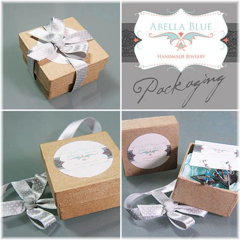 Packaging Handmade Jewelry - new packaging abella blue