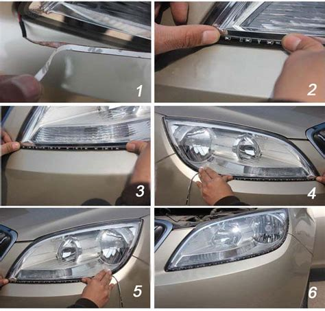 23 5 Inches Side Glow Flexible Led Strip Lights For How To Install Led Light Strips On Car