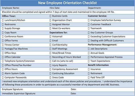 new employee hiring checklist template