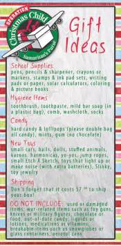 pictures on gift ideas for operation christmas child boxes