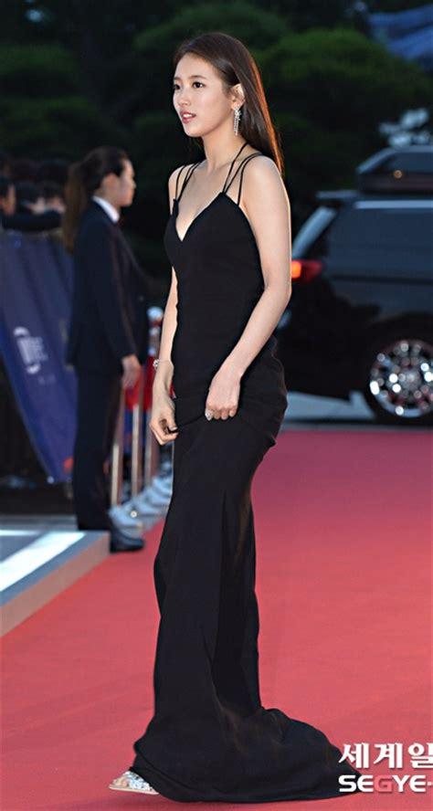 Dress Suzy by Bae Suzy Black Dress Korean Fashion Lookbook Sweetnara
