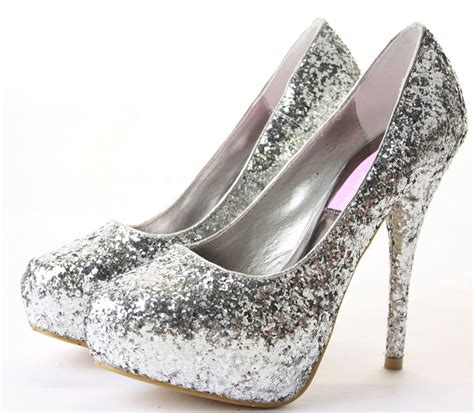 silver high heels prom silver sparkly high heels for prom is heel