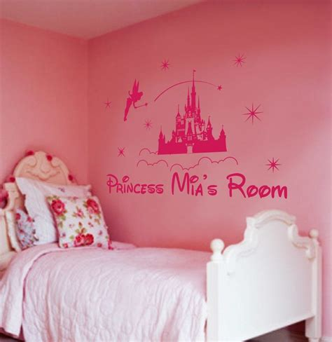 princess castle wall sticker personalized princess castle wall for