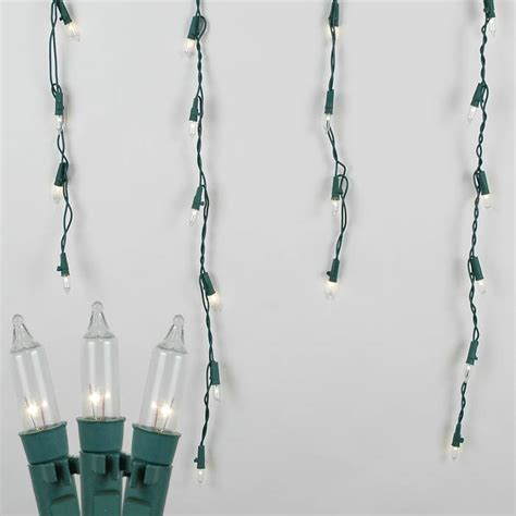 pro grade connect 5 green wire icicle lights long drops