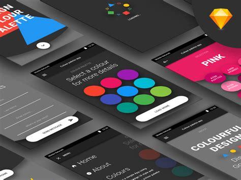 colors app android color palette app sketch freebie free