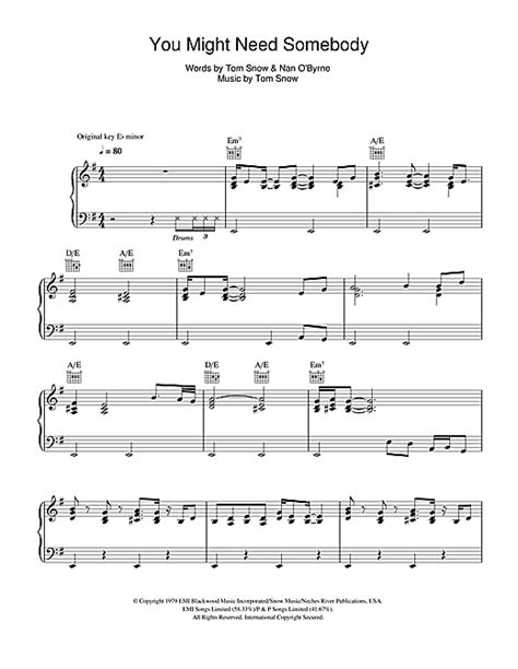 guitar tutorial it might be you you might need somebody sheet music by randy crawford
