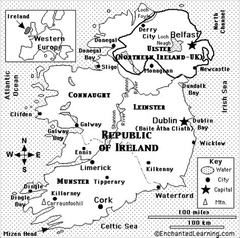 kentucky map enchanted learning image gallery ireland continent