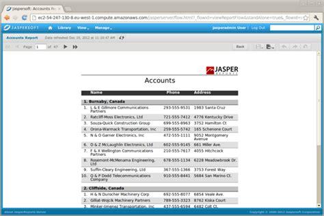 jasper reports sle bitnami jasperreports stack linux 6 4 3 0