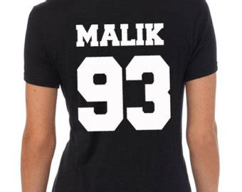 Zayns Malik 93 One Direction Sleeve malik93 shirt front zayn back malik 93 two sides tshirt