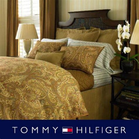 Yellow Paisley Comforter by Hilfiger Royale Safari 3pc Comforter Set Yellow Gold