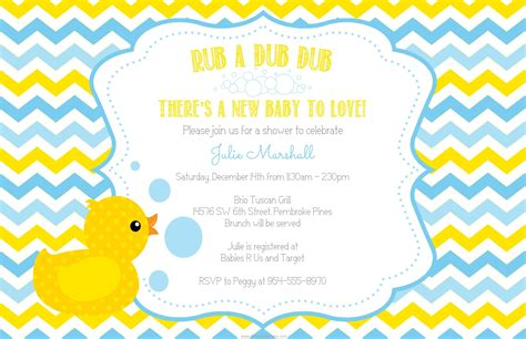 rubber duck baby shower invitations theruntime
