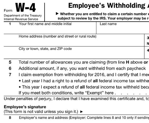 supplemental w4 image gallery irs w 4 withholding tables
